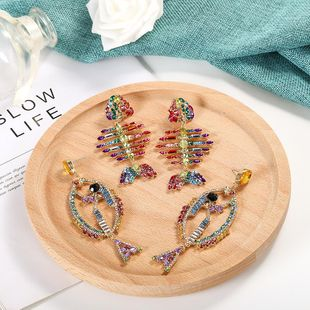 Womens Inlay Rhinestone Alloy Earrings NHJQ123055's discount tags