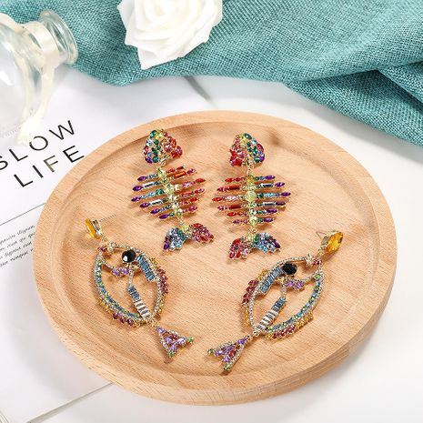 Womens Inlay Rhinestone Alloy Earrings NHJQ123055's discount tags