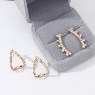 Womens Geometry Electroplating Alloy Earrings NHNZ123336's discount tags
