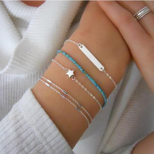 Womens Geometric Alloys Beads Magnesium Bracelet NHMD123340's discount tags