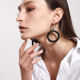 Fashion exaggeration Ring Alloy Earrings NHNZ123344's discount tags