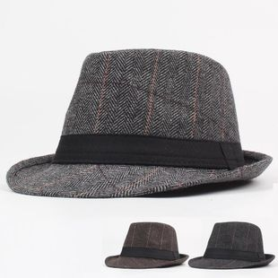 Autumn and winter travel outdoor leisure warm jazz hat NHXO123347's discount tags