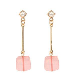 Fashion creative plated metal imitation beads earrings NHCT123351's discount tags