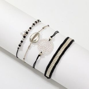 Womens Rice Beads Shell Plating Alloy Shell Bracelet NHNZ123353's discount tags