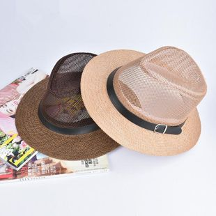 Outdoor shade big men s straw hat NHXO123361's discount tags
