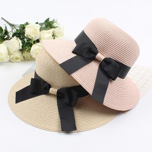 Summer Dome Bow Hat Holiday Beach Hat NHXO123365's discount tags