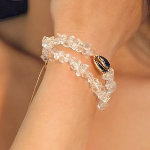 Womens Geometric Resin Rope Shell  Bracelet NHMD123368's discount tags