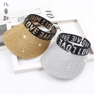 Wild fashion letter straw hat NHXO123371's discount tags