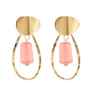 Womens Water Drop Electroplating Metal Matte Series Earrings NHCT123374's discount tags