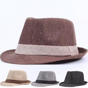 Summer straw hat England small top hat NHXO123382's discount tags