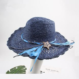 Fashionable hollow foldable big hat NHXO123386's discount tags