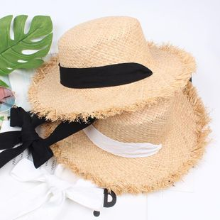 Woven sunscreen black and white streamers NHXO123389's discount tags