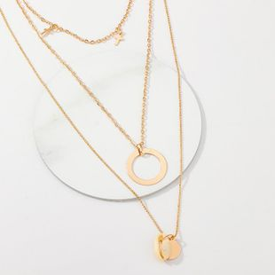 Womens shell plating alloy Necklaces NHNZ123390's discount tags