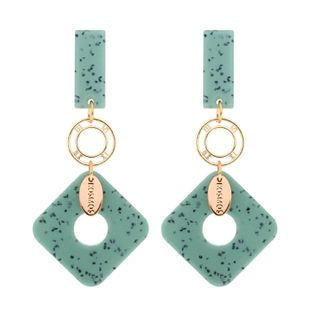 Fashion alloy square acrylic earrings NHCT123404's discount tags
