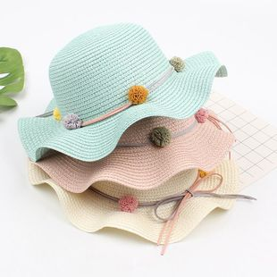 Beach seaside holiday wind foldable straw hat NHXO123405's discount tags