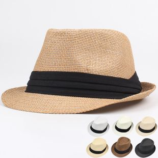 Fashion tri-fold with a couple of beach shade straw hats NHXO123449's discount tags