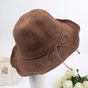 Stylish high-end folding straw hat NHXO123455's discount tags