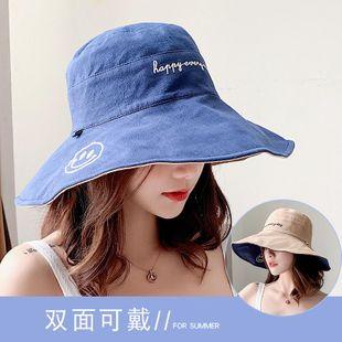 Fashion wild big smiley sunshade cap NHXO123472's discount tags