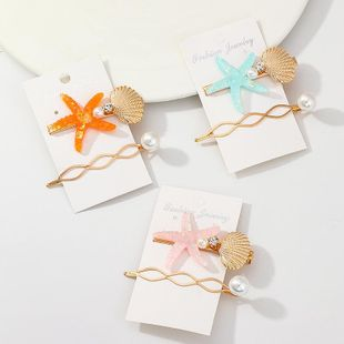 Womens Starfish Shell Beads Plating Alloy Hair Accessories NHNZ123479's discount tags