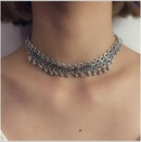 Womens teardrop electroplated alloy Necklaces NHGY123317