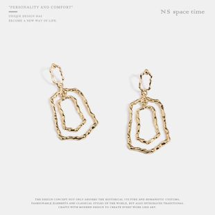 Womens Geometry Electroplating Alloy Earrings NHQS123496's discount tags
