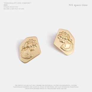Womens Geometry Electroplating Alloy Earrings NHQS123497's discount tags