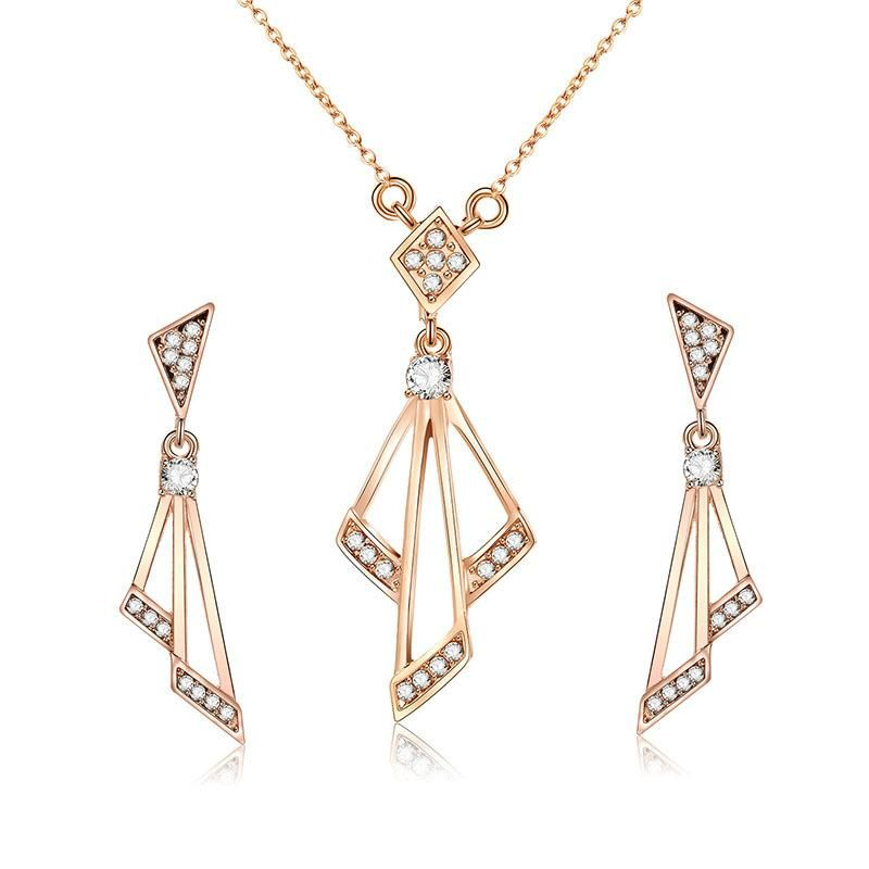 Womens Electroplated Alloy Jewelry Sets NHXS123507