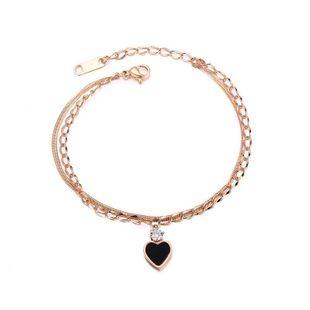 Womens geometrically plated titanium steel Bracelet NHOP123522's discount tags