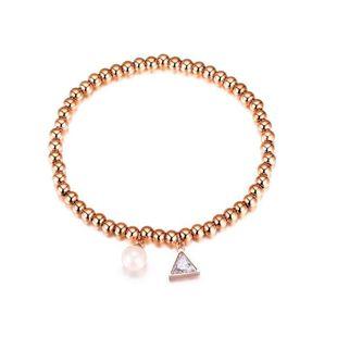 Womens geometrically plated titanium steel Bracelet NHOP123524's discount tags