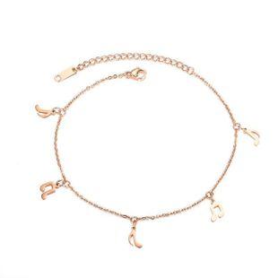 Womens Geometry Titanium Steel ankle bracelet NHOP123546's discount tags