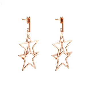 Womens Geometry Electroplated Titanium Steel Earrings NHOP123553's discount tags