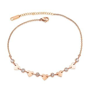 Womens Geometry Titanium Steel ankle bracelet NHOP123566's discount tags