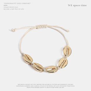 Womens Shell Plating Alloy Bracelet NHQS123590's discount tags