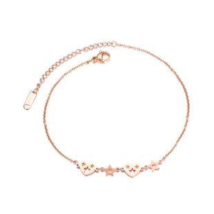 Womens Geometry Titanium Steel ankle bracelet NHOP123606's discount tags