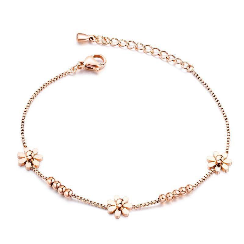 Pulseras y brazaletes de acero galvanizado galvanizado galvanizado de geometría femenina NHOP123622