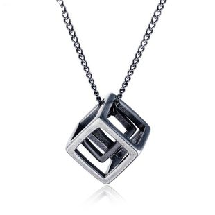 Mens Geometric Plated Titanium Steel Necklaces NHOP123627's discount tags