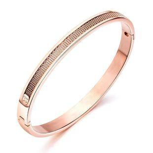 Womens geometrically plated titanium steel Bracelet NHOP123639's discount tags