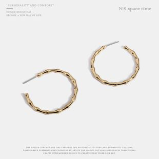Womens C-shaped plating alloy Earrings NHQS123642's discount tags