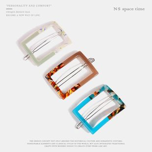 Womens Geometry Plating Acrylic Hair Accessories NHQS123652's discount tags