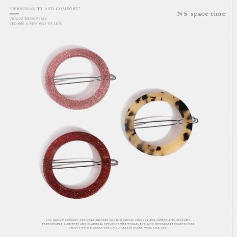 Accessoires de cheveux en acrylique plaqué rond pour femmes NHQS123653's discount tags
