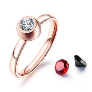Womens Geometric Plating Titanium Steel Rings NHOP123666's discount tags