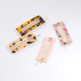 Womens Geometric Drop Oil Acrylic Hair Accessories NHLL123860's discount tags