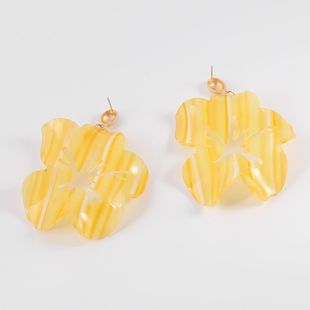 Womens Floral  Hollow Acrylic Earrings NHLL123871's discount tags
