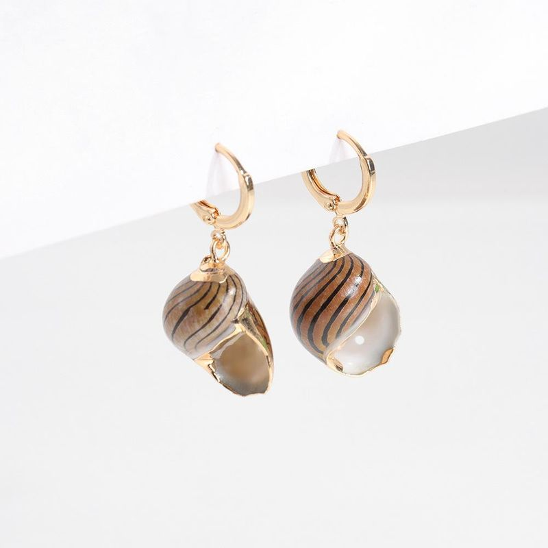 Womens Conch Shell Alloy-plated edge Jewelry Earrings NHLL123873