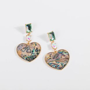 Womens Heart-Shaped Electroplating Alloy Earrings NHLL123879's discount tags