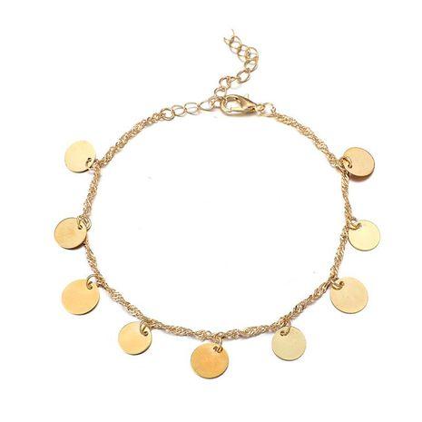 Bracelet de cheville en alliage de placage de disque pour femme NHGY123985's discount tags