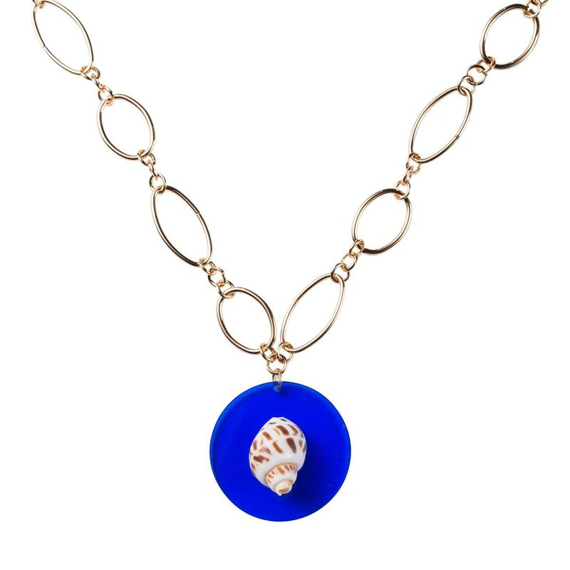 Womens shell plating alloy Necklaces NHJE124023