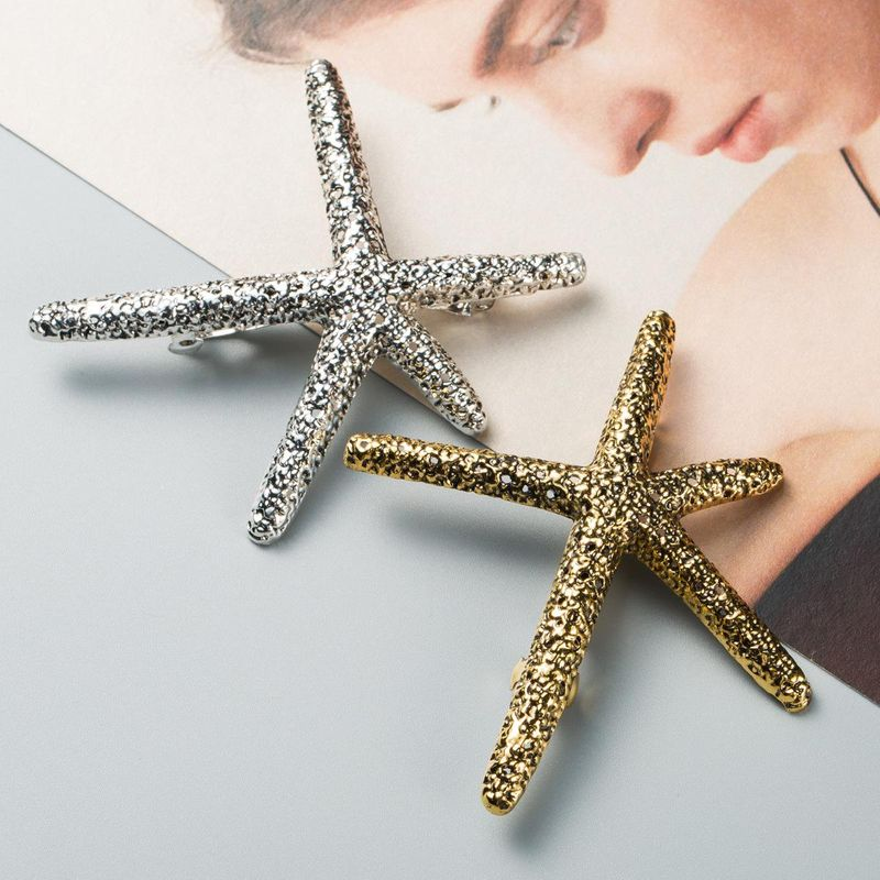 Womens Starfish Plating Alloy Hair Accessories NHJE124032