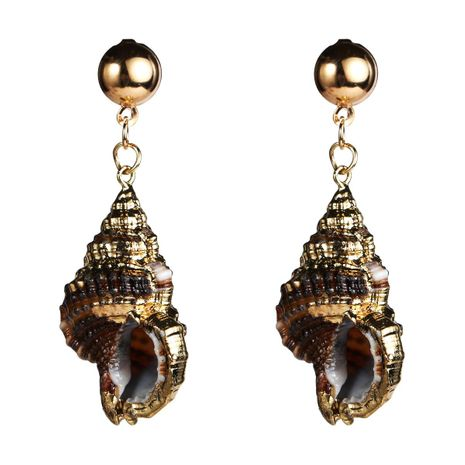 Womens Shell Seashell Earrings NHJE124061's discount tags