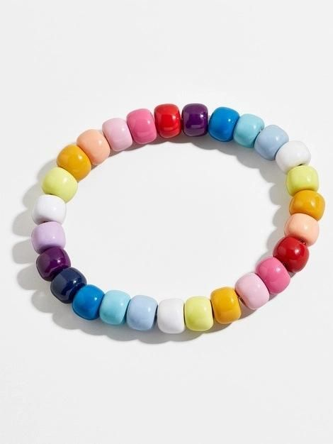 Womens String Chain Plastic  Resin Bracelets & Bangles NHJQ124081